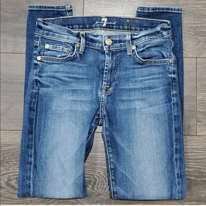 ❤7 FOR ALL MANKIND THE ANKLE SKINNY JEANS, size 4